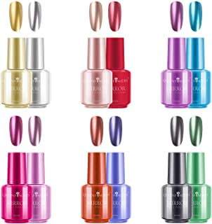 Ownest 12 Colors Nail Polish, Long Lasting Gorgeous Glossy Manicure Nail Art Decoration, Brilliant Mirror Effect Nail Lacq...