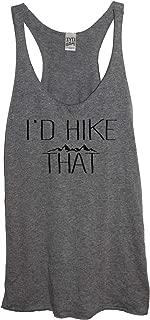 I'd Hike That Soft Tri-Blend Women's Heather Gray Racerback Tank Top