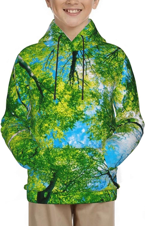 Forest Green Tree Pullover Hoodie Funny Pattern Hooded Sweatshir