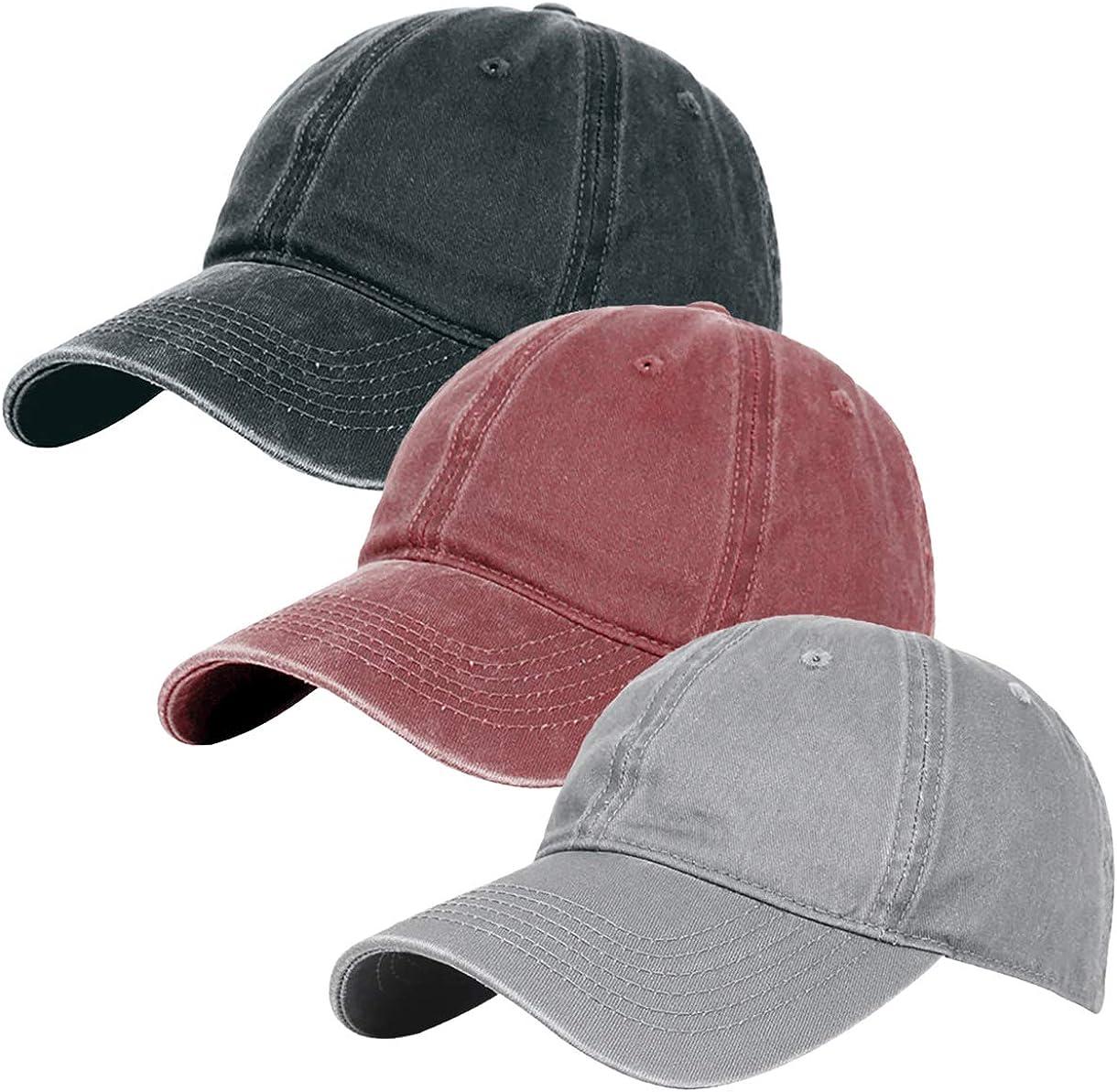 Glamorstar Classic Unisex Baseball Cap Adjustable Washed Dyed Cotton Ball Hat