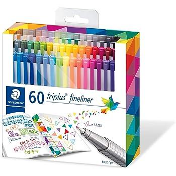 STAEDTLER 334 C60 triplus fineliner 60 brilliant colours - 0.3mm line width