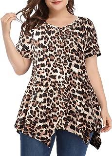 LARACE Women Casual T Shirt V-Neck Tunic Tops for Leggings - - 5X