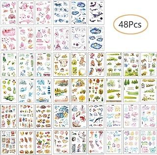 J 50pcs Notizbuch Aufkleber Fotoalbum Sticker DIY Handbuch Tagebuch Dekoration Sticker Kinder Geschenk