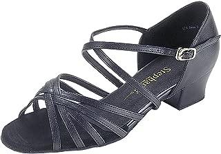 """DanceNwear Open Toe X-Strap 1.5"""" Cuban Heel"""