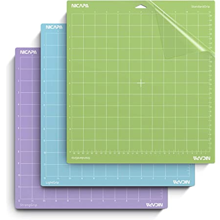 3 Pack, Variety Diyit 12x12 Cutting Mat for Cricut Maker//Explore Air 2//Air//One Lightgrip, Standardgrip, Stronggrip Adhesive Non-Slip Cutting Mat