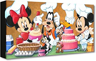 Disney Fine Art Happy Kitchen by Michelle St Laurent Treasures on Canvas Mickey Mouse 10 Inches x 20 Inches Reproduction Gallery Wrapped Canvas Wall Art