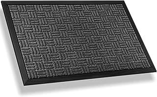 Mibao Entrance Door Mat Large Heavy Duty Front Outdoor Rug Non-Slip Welcome Doormat for Entry, 36 x 60 inch, Grey
