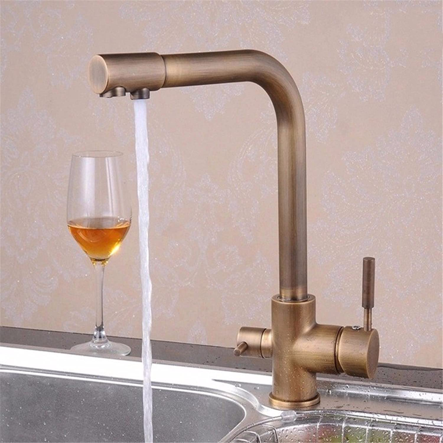 Hlluya Professional Sink Mixer Tap Kitchen Faucet Two out of the tap water faucet