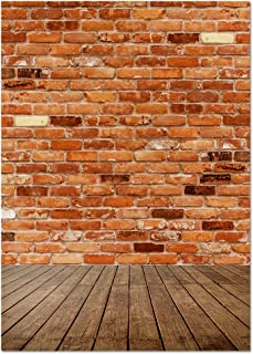 Brick Background - Photography Backdrop - Great for Studio, Booth, Party, Photo, Wedding, Business Use, 4.9 x 7.2 Feet