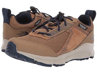 The North Face Kids Hedgehog Hiker II Waterproof (Little Kid/Big Kid) (Utility Brown/Cosmic Blue) Boys Shoes