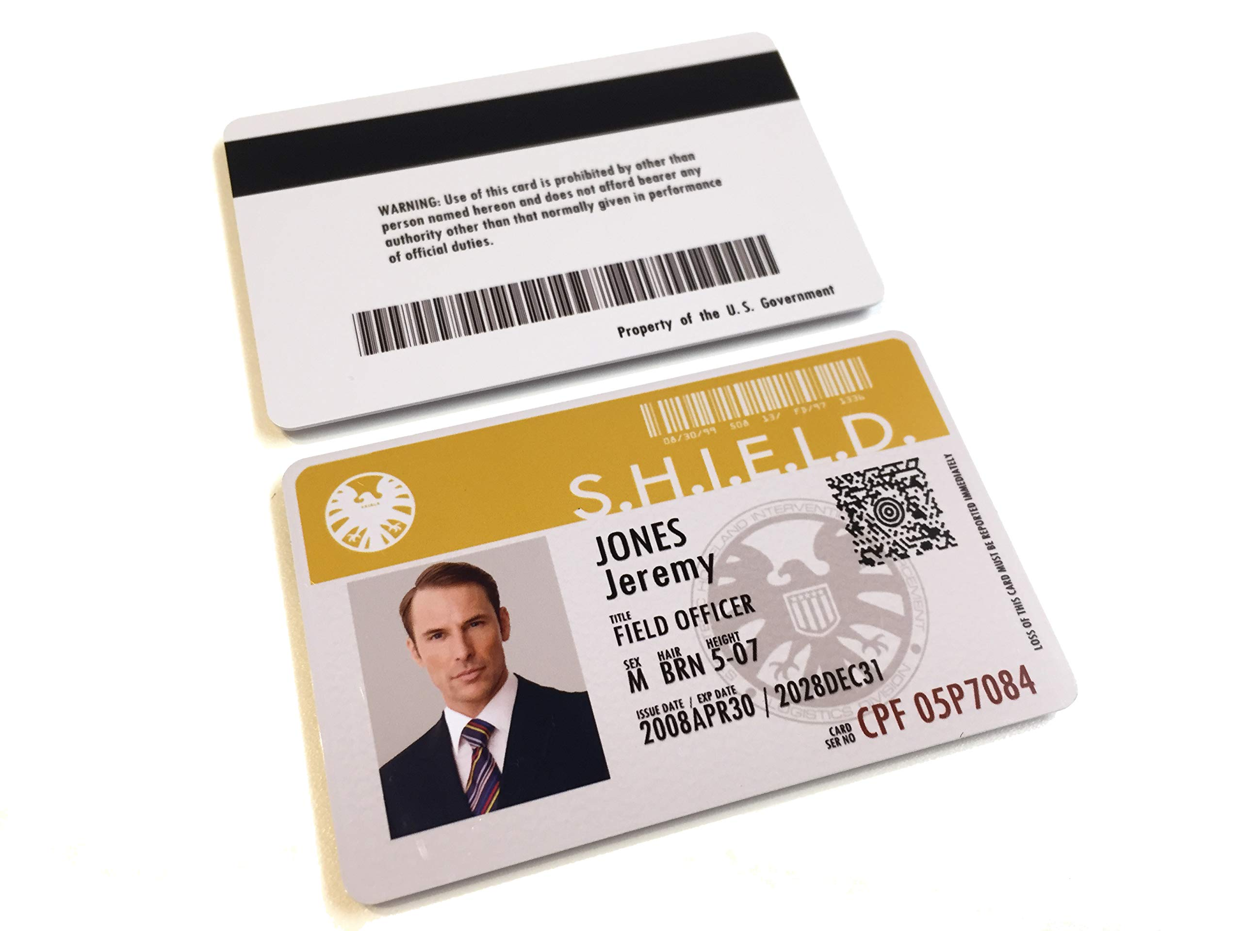 Agents of Shield Custom Personalised Card Badge Prop Pertaining To Shield Id Card Template
