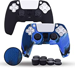 Jazane PS5 Controller Cover,Silicone Hand Grips for Playstation 5, Nonslip Skin for DualSense Controller,3D Texture Sleeve...