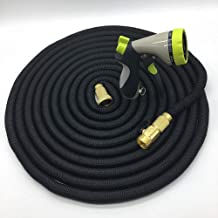 JUZZQ Garden Hose,Water Hose with 8 Functions Flexible and Expandable Water Hose with Triple Latex Core 3/4 Solid Brass Fittings Strong Material for Outdoor Lawn Car Watering Plants,75FT
