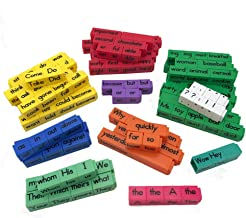 hand2mind Reading Rods, Sentence Construction Cubes (Set of 156)