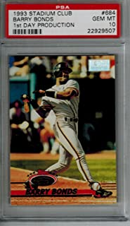 1993 Topps Stadium Club Barry Bonds 1st Day Production PSA 10 GEM MINT