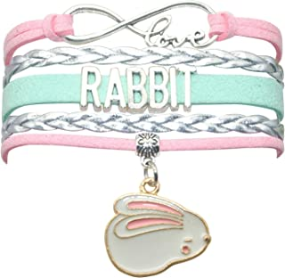 Rabbit Bunny Bracelet Jewelry - HCChanshi Infinity Love Rabbit Gifts Bunny Rabbit Jewelry Bracelet Gift For Women, Girls, Men, Boys, Rabbit Lover, Rabbit Themed Gifts
