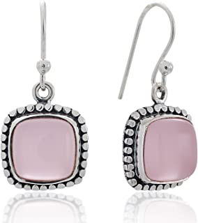 Best sterling silver rose quartz earrings Reviews