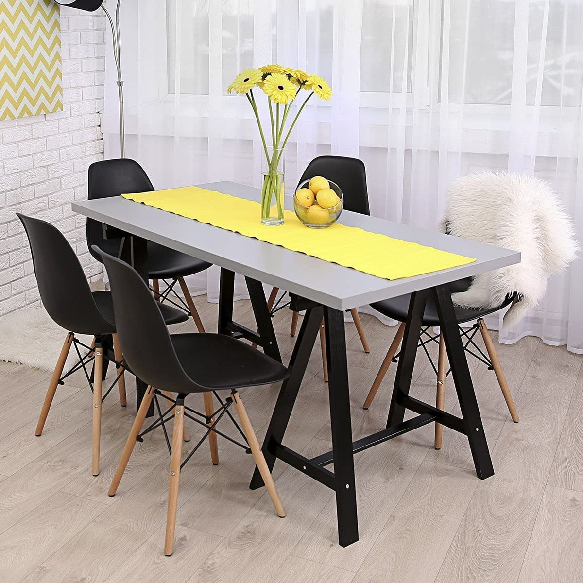 Buy Set of 9 Modern Style Dining Chair Mid Century White Modern ...