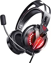 ONIKUMA Gaming Headset for PS4, Gaming Headphones with 7.1 Surround Sound, Xbox One Headset with Noise Canceling Mic LED L...