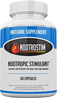Nootrostim- Natural Stimulant to Speed Up Your Brain: Study Pills, Energy Boost Supplement & Best Alpha Brain Wave Smart N...