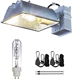 TopoLite CMH 315W Grow Light Kit Eclosed Reflector W/Bulb 120/240V Hydroponic Indoor Growing Grow Light Fixture (Enclosed 315W Kit)