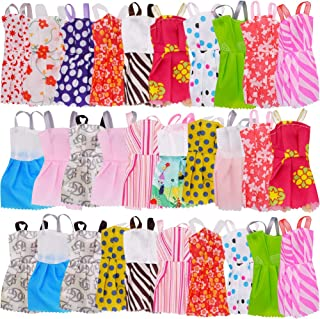 WENTS Ropa Accesorios para muñecas 30 Piezas Vestidas Fashion Mini Falda Fiesta Ropas Casuales para Barbie Muñeca para 11,5 Pulgadas Fashionista Hecha a Mano