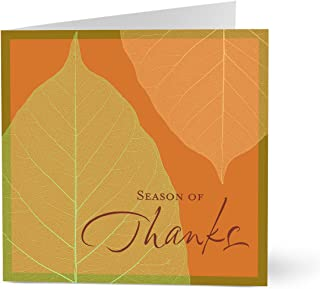 Hallmark Business Thanksgiving Card for Customers (Stylish Autumn Leaves) (Pack of 25 Greeting Cards)