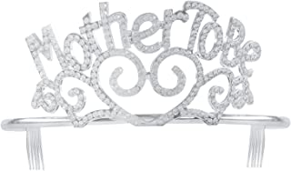 Fun Central Metal Mother to Be Tiara - Headbands & Crowns Party Accessories for Baby Shower, Events & Parties - Silver