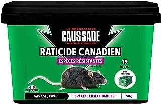 Caussade CARBL300N Raticide Canadien | Anti Rats & Souris | 15 Blocs |Lieux Humides | Garage Cave | 300g | Espèces Résista...