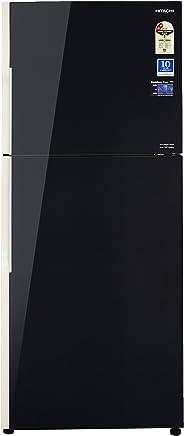 Hitachi 382 L 3 Star Rating Frost Free Double Door Refrigerator(R-VG400PND3, Black)