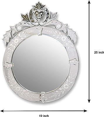 ALFA DESIGN: Round Stripe Venetian Mirror for Living Room Area
