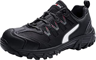 Workshift Shoes for Men,Breathable Comfortable Footwear Steel Toe Shoes Lightweight Indestructible Anti-Slip Safety Shoes