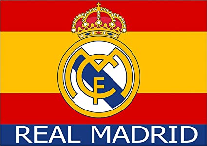 Flag Of Real Madrid Spain Product With Licence Measurements 150 X 100 Cm Satin Fabric Amazon De Sports Outdoors