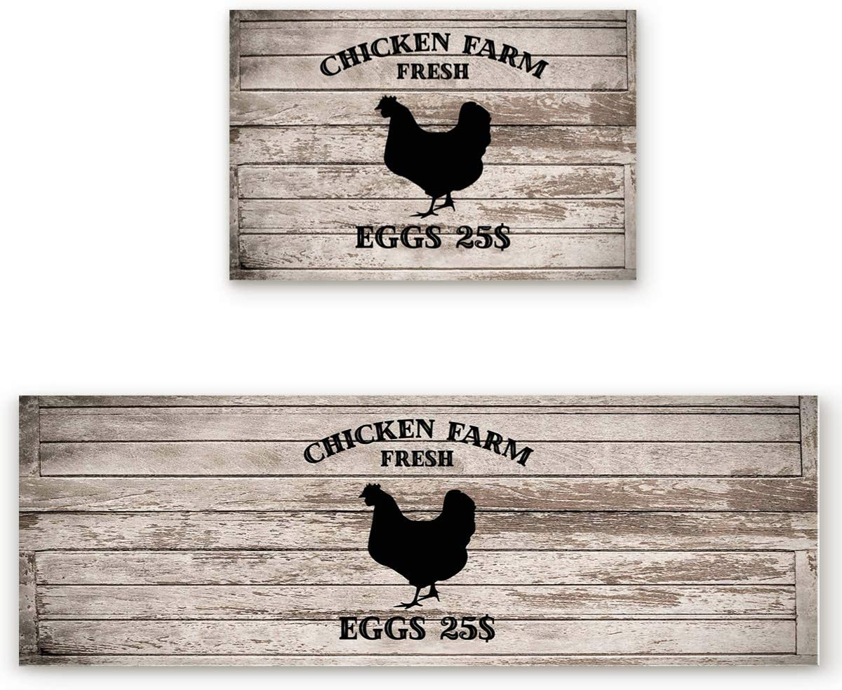 EZON-CH Kitchen Rugs and Mats Set Farm Eggs Fresh Pcs 2 2021 autumn and winter new Manufacturer regenerated product Chicken