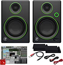 Mackie CR3 3-Inch Creative Reference Multimedia Monitors Bundle with Foam Isolation Pads and Pro Cable Kit Featuring Pro Tools First DAW Music Editing Software