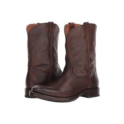 Frye Duke Roper (Dark Brown Antique Pull-Up) Cowboy Boots