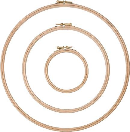 Aro de punto de cruz de madera//aro//anillo//marcos 4-18//10-45 cm 4-10 cm