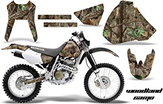 AMR Racing MX Dirt Bike Graphic Kit Sticker Decals Compatible with Honda XR400 1996-2004 - Woodland Camo