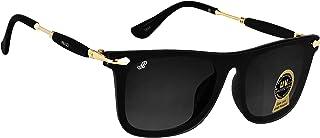 Piraso Branded Wayfarer Sunglasses For Boys-Men-Girls-Women-Wayfarer-Black-9101
