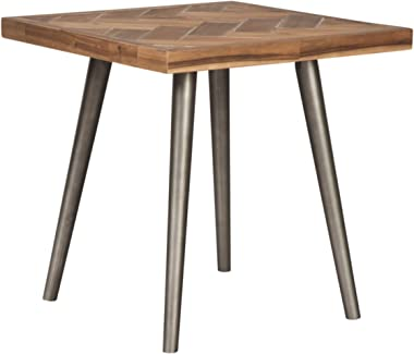 Signature Design by Ashley - Vantori Contemporary Rectangular End Table, Light Brown Natural Wood