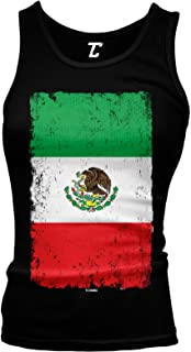 Distressed Mexico Flag - Mexican Eagle Latino Juniors Tank Top