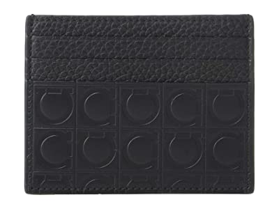 Salvatore Ferragamo Firenze Gamma Card Holder 66A176 (Black) Credit card Wallet