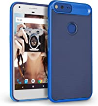 Google Pixel XL Case, Orzly AirFrame Case for Google Pixel XL (2016 Version) – Lightweight & Slim-Fit Protective Bumper Frame & Case for Google Pixel XL (5.5 inch Model of Phone by Google) - Blue