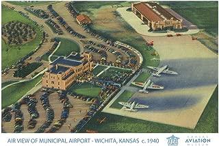 Wichita, Kansas - Air View of Municipal Airport (24x36 Fine Art Giclee Gallery Print, Home Wall Decor Artwork Poster)