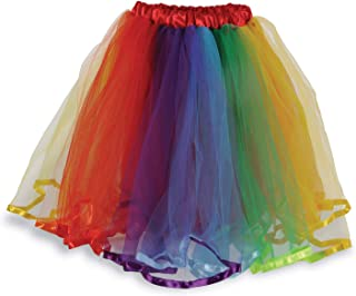 Beistle Polyester Fabric Tulle Rainbow Tutu Skirt Costume Accessory, One Size, Red/Orange/Yellow/Green/Blue/Purple