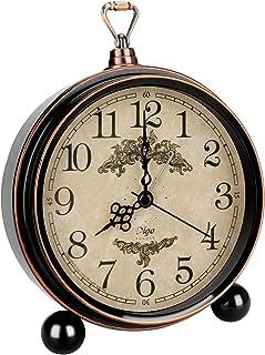 """Ertisa Rétro réveil, Réveil Rétro pour Chambre à coucher, 6.3"""" Vintage Horloge Non Ticking, Fonctionne avec piles, Réveil ..."""