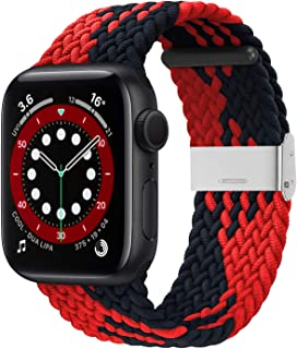 Bagoplus Compatible with Apple Watch iWatch Bands 38mm 40mm 42mm 44mm Women Men, Braided Solo Loop Stretchable Elastics Sp...