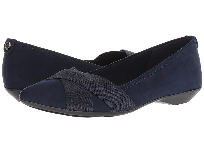 Anne Klein Sport Oalise (Dark Navy/Dark Navy Fabric) Women's Shoes