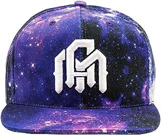 INTO THE AM Adjustable Snapback Hats - Flat Brim Galaxy Print Designs