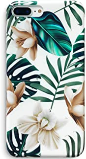 "J.west iPhone 8 Plus Case, iPhone 7 Plus Case, Flower Design Slim Flexible Clear TPU Glossy Soft Rubber Silicone Protective Phone Case for iPhone 7 Plus /8 Plus 5.5"" (Leaf)"